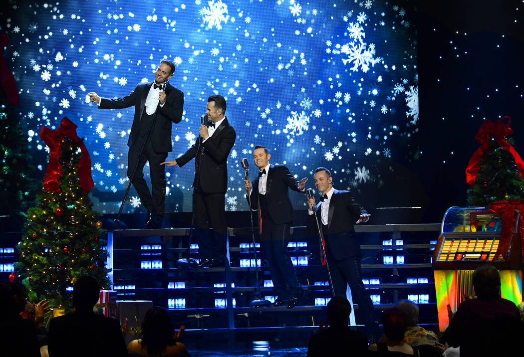 "Human Nature performs ""Rockin' Holiday Jukebox"" through Dec. 23 at Sands Showroom at the Venetian. (Denise Truscello)"