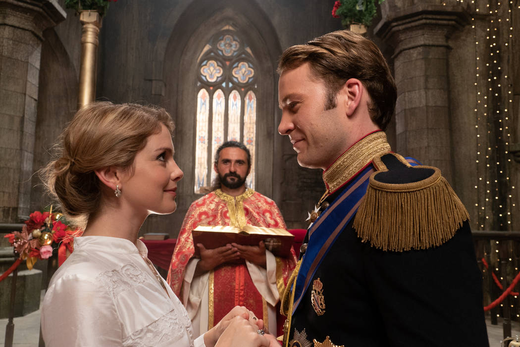"""Rose McIver and Ben Lamb star in """"A Christmas Prince: The Royal Wedding."""" (Netflix)"""