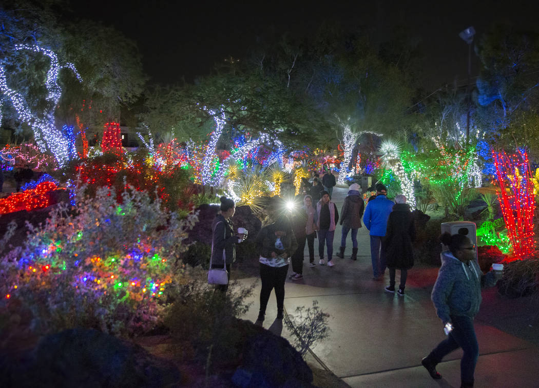 Ethel M Christmas Lights 2019 Ethel M's holiday cactus garden lights up the Las Vegas Valley