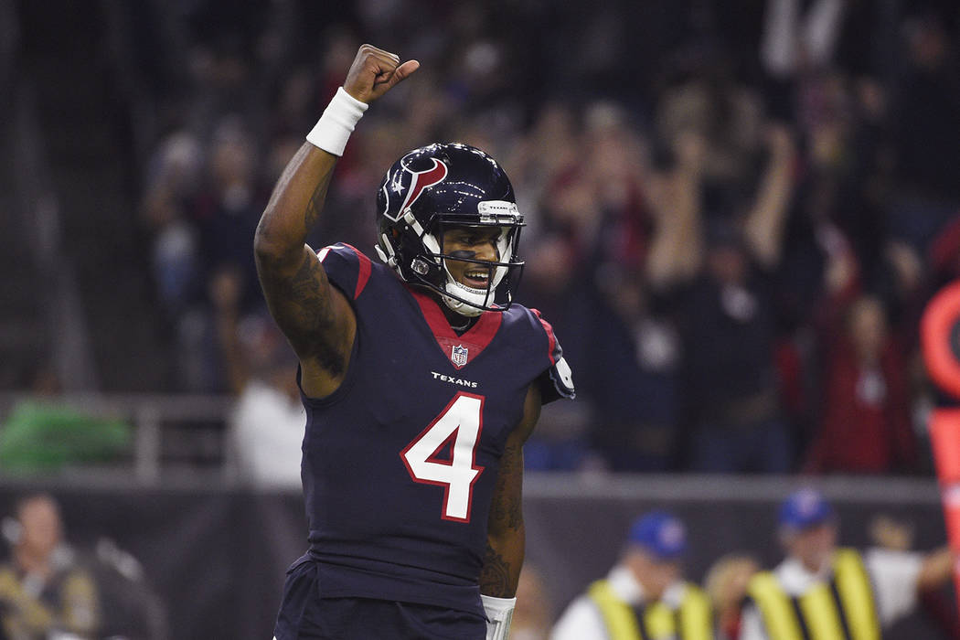 timeless design a262a 817dd Deshaun Watson powers Texans to 8th straight win | Las Vegas ...