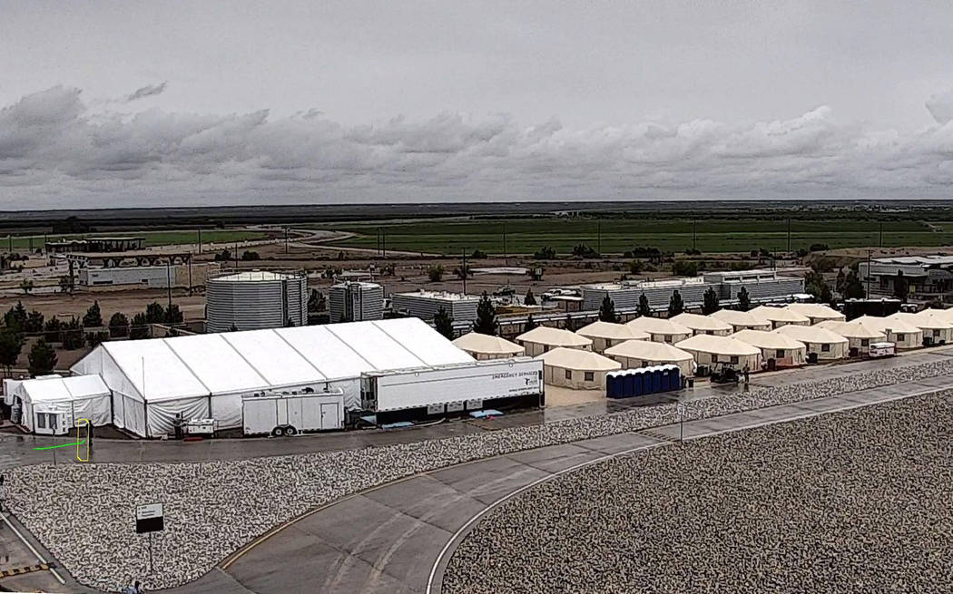 The shelter used to house unaccompanied migrant children in Tornillo, Texas. The Trump administration announced in June 2018 that it would open the temporary shelter for up to 360 migrant children ...