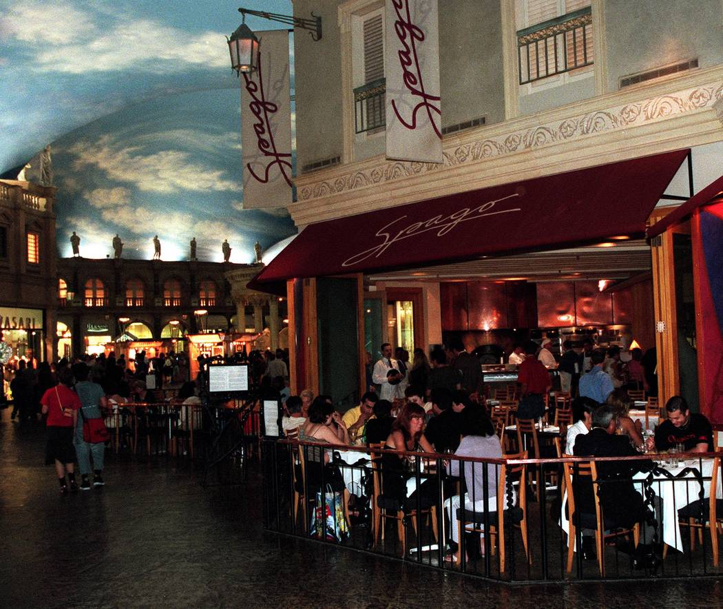 Spago's inside the Forum Shops in August of 2000. Christine H. Wetzel/Las Vegas Review-Journal