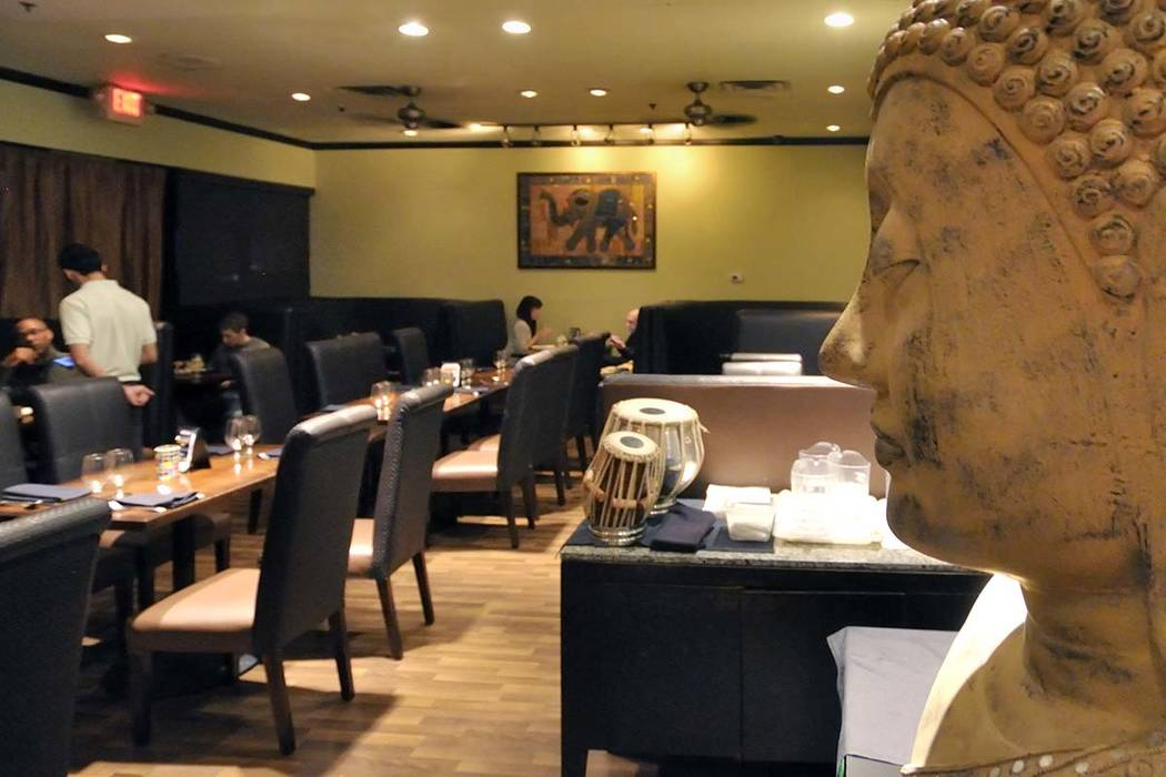 The interior of the Mint Indian Bistro restaurant at 730 E. Flamingo Road, is shown on Sunday, Nov. 13, 2011. Bill Hughes/Las Vegas Review-Journal