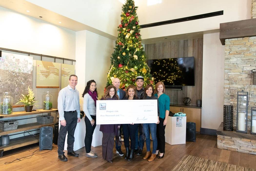 Skye Canyon and Lee Canyon collected more than 300 coats and raised $5,000 for Project 150, a local nonprofit that assists disadvantaged and homeless high school students. (Skye Canyon)