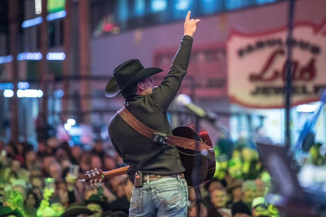 The 2016 Downtown Hoedown on Fremont Street on Wednesday, Nov. 30, 2016, in Downtown Las Vegas. (Tom Donoghue)