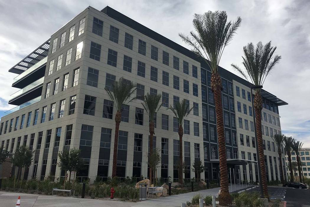 The six-story Las Vegas office building known as Two Summerlin is located at 10845 Griffith Peak Drive. (Eli Segall/Las Vegas Review-Journal)