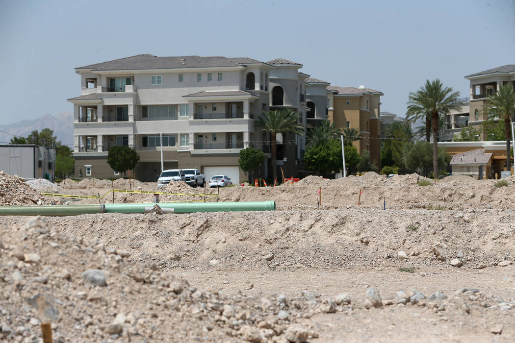 The Mira Villa condo complex in Las Vegas is seen Tuesday, July 31, 2018. Erik Verduzco Las Vegas Review-Journal @Erik_Verduzco
