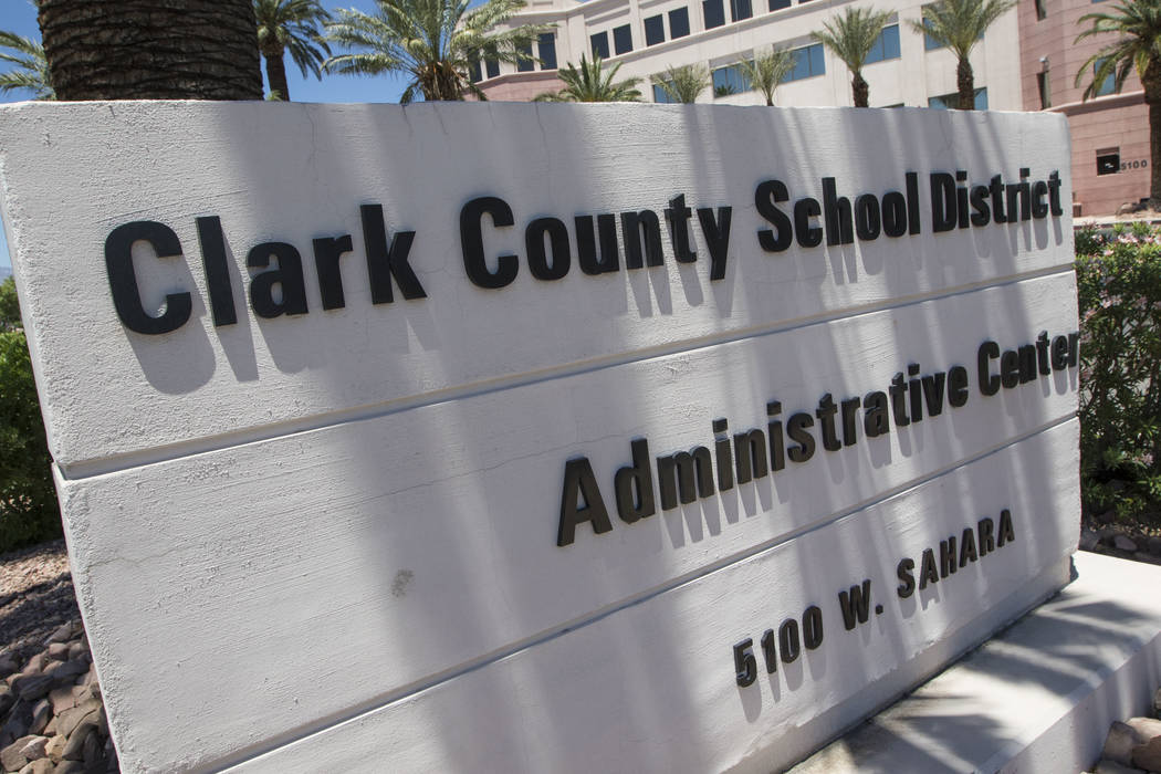 Clark County School District administration building located at 5100 West Sahara Ave. in Las Vegas on Tuesday, May 23, 2017. (Richard Brian/Las Vegas Review-Journal) @vegasphotograph