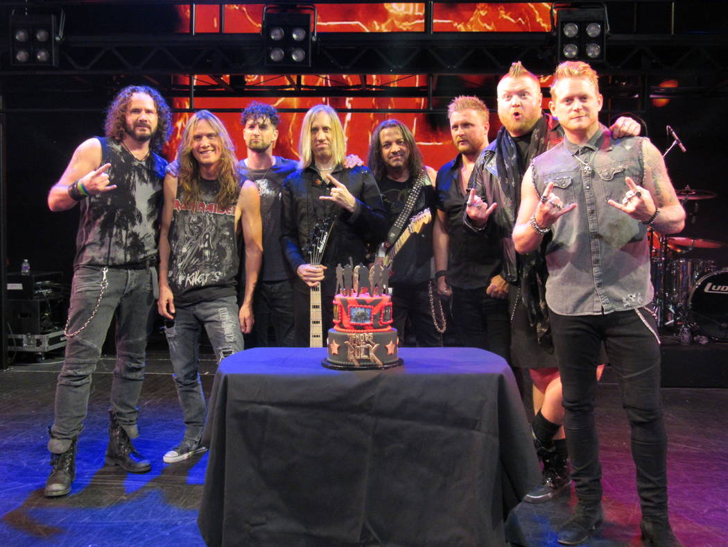 Harrah's headliners Tenors of Rock commemorates its 100th show Wednesday, May 24, 2017, in Las Vegas. (Courtesy)