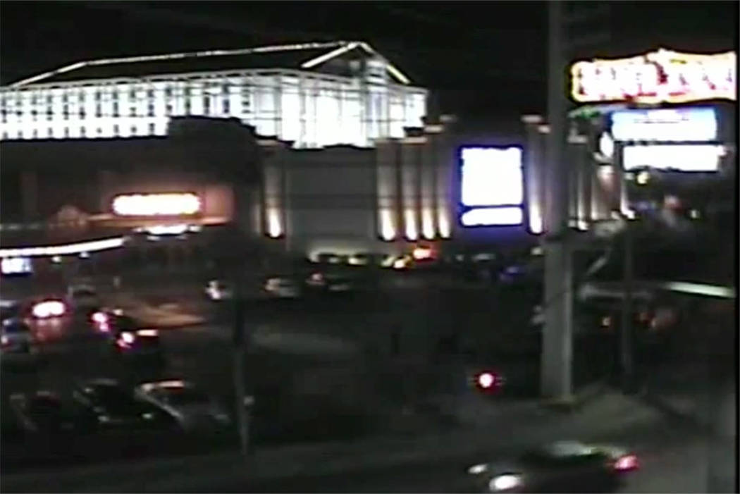 Police check Sam's Town in Las Vegas on Wednesday, Nov. 28, 2018, after a woman was stabbed. (RTC Fast Cameras)