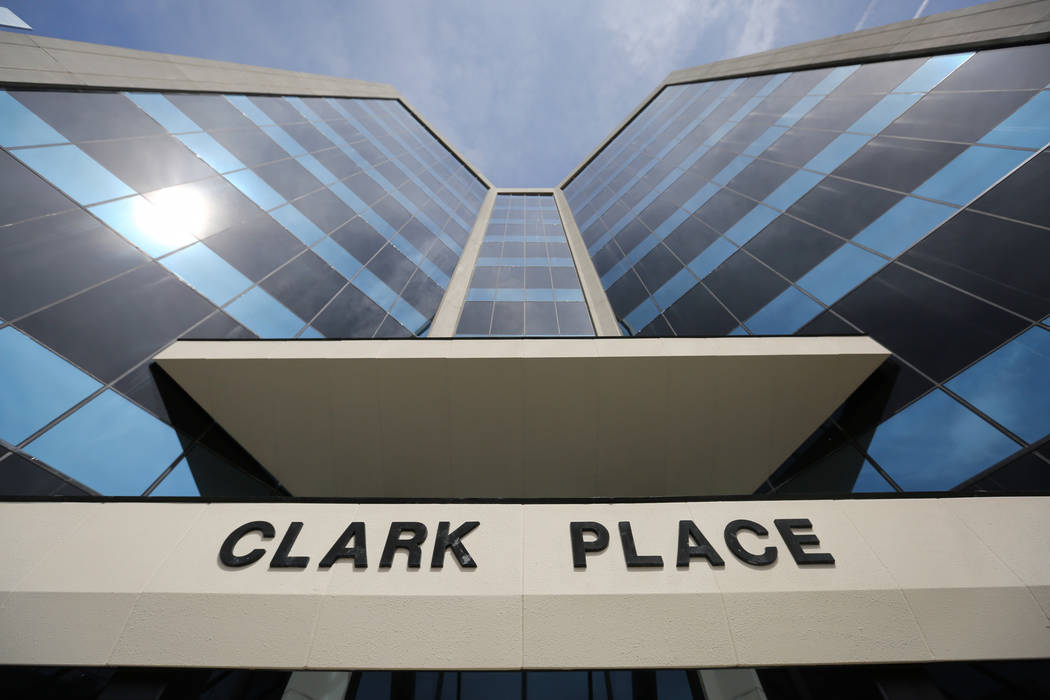 The Clark County District Attorney's Office, located in Clark Place, is seen on Thursday, April 21, 2016 in downtown Las Vegas. (Brett Le Blanc/Las Vegas Review-Journal)