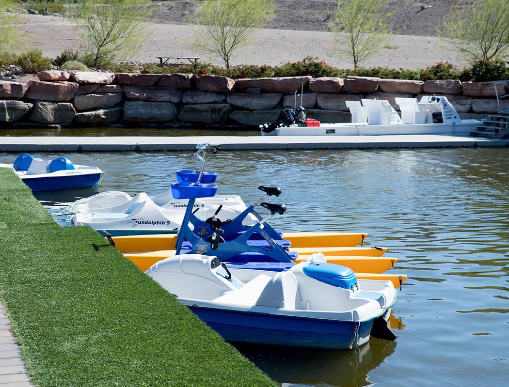 Residents and visitors can rent small boats at Lake Las Vegas. (Tonya Harvey Real Estate Millions)