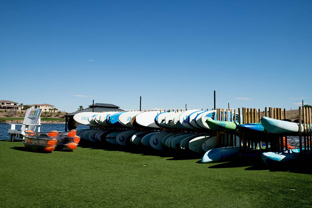 Lake Las Vegas hosts several rowing clubs. (Tonya Harvey Real Estate Millions)