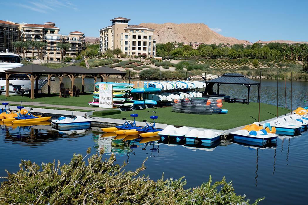 Watersports is a popular amenity at Lake Las Vegas. (Tonya Harvey Real Estate Millions)