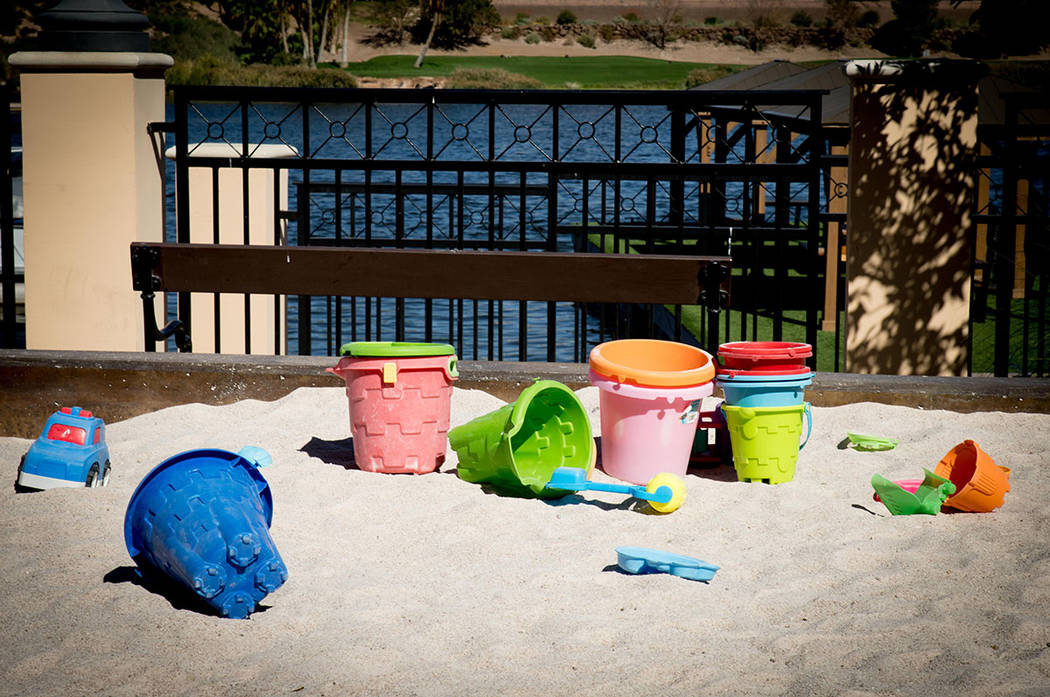 A day at the beach is everyday at Lake Las Vegas. (Tonya Harvey Real Estate Millions)