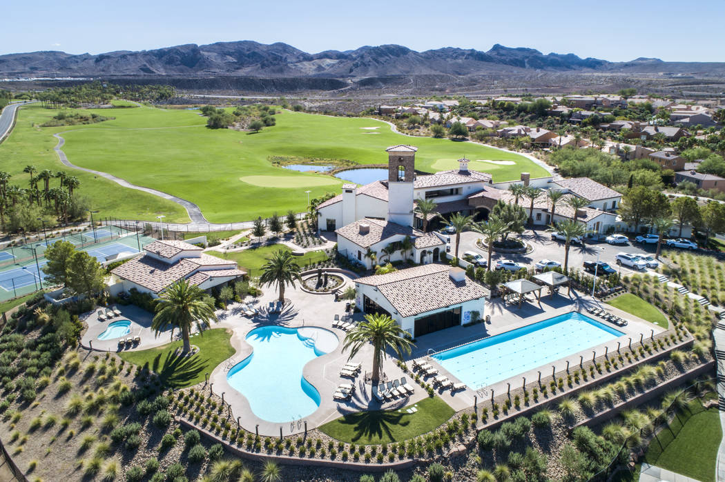 Lake Las Vegas Sports Club has pools, tennis courts, pickleball courts and other amenities. (Lake Las Vegas)