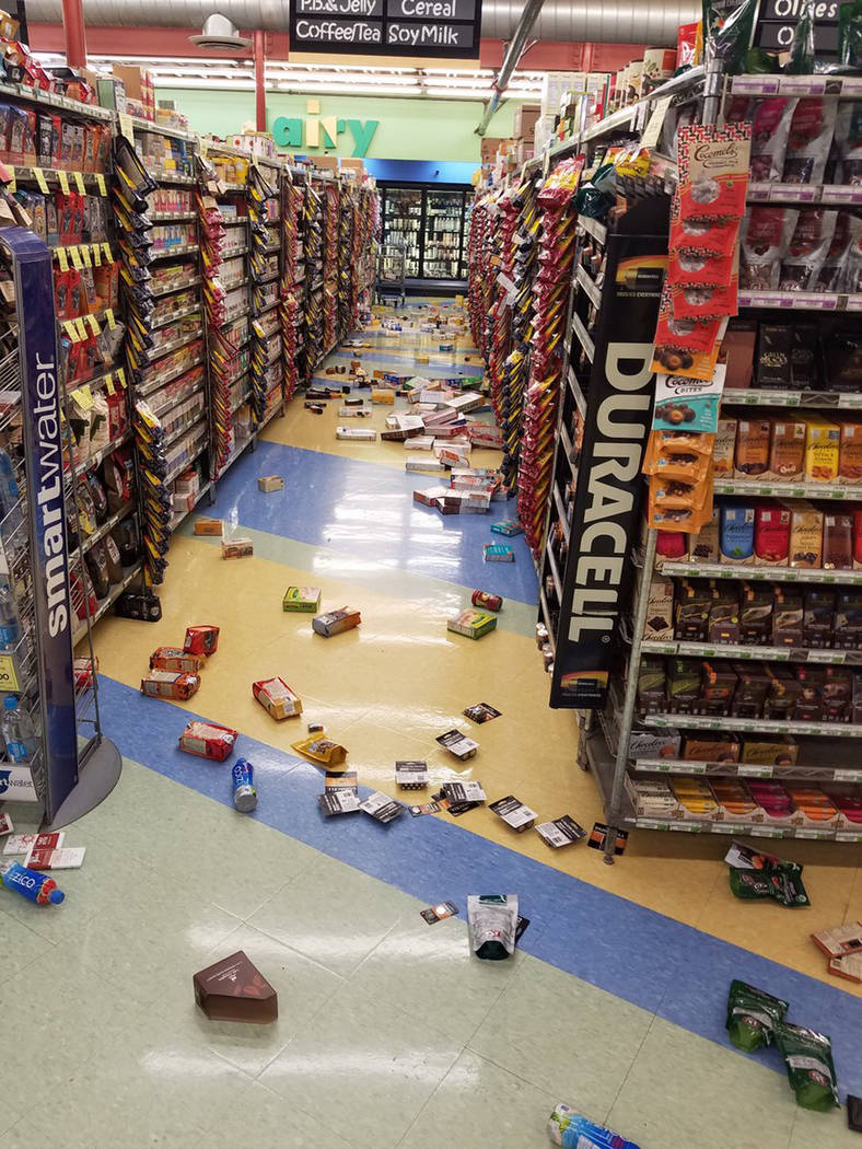 This photo provided by David Harper shows merchandise that fell off the shelves during an earthquake at a store in Anchorage, Alaska, on Friday, Nov. 30, 2018. Back-to-back earthquakes measuring ...