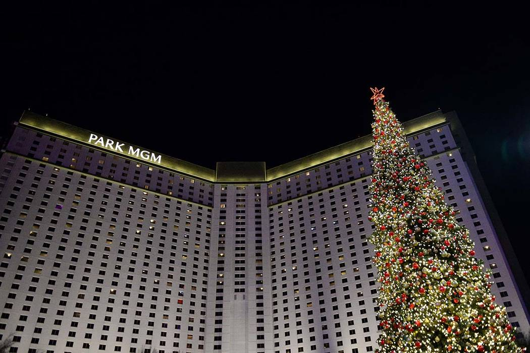The Holiday Experience at The Park makes its debut with a tree-lighting ceremony in Las Vegas, Thursday, Nov. 29, 2018. Caroline Brehman/Las Vegas Review-Journal
