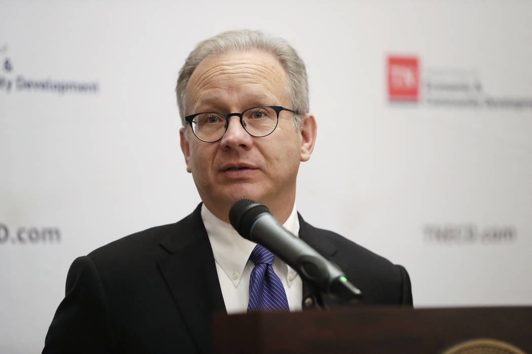 In this Nov. 13, 2018, photo, Nashville Mayor David Briley speaks during an announcement that Amazon will locate an operations hub in Nashville, Tenn. (AP Photo/Mark Humphrey, File)