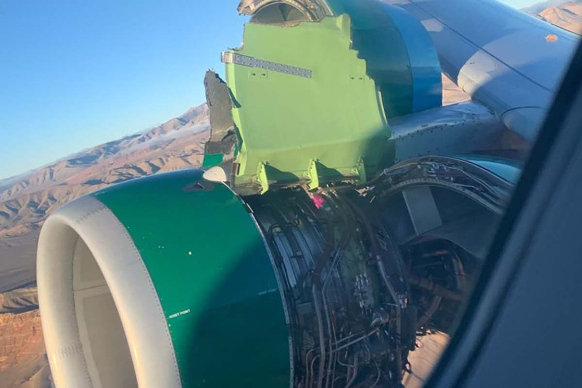 Las Vegas Flight Lands Safely After Losing Engine Piece