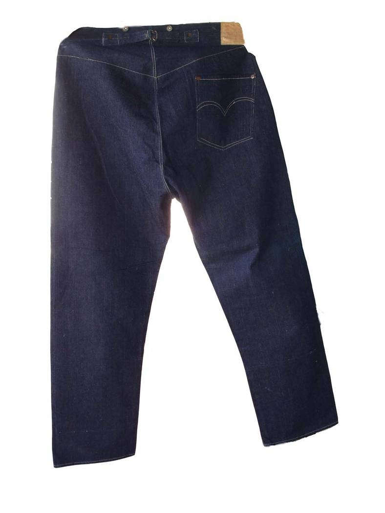 A photo shows the pristine 19th century Levis that sold for nearly $100,000 earlier this year. credit: Daniel Buck Soules/Daniel Buck Auctions, Inc.