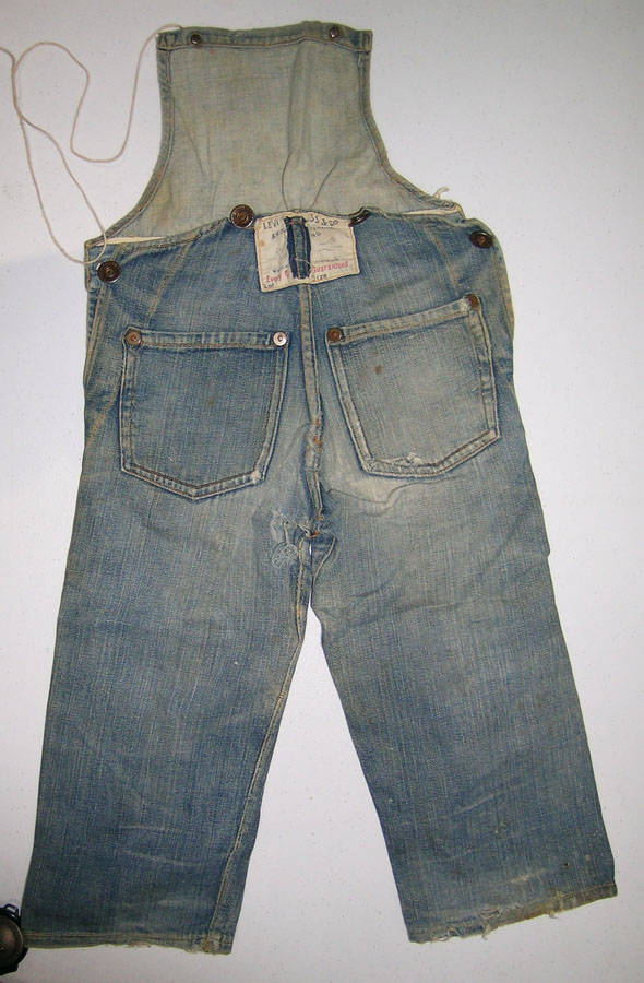 This early 20th century pair of Levis child overalls is one of about 15 pieces of Levis clothing that will be included in the auction house's Spring 2019 American Auction. credit: Daniel Buck Sou ...