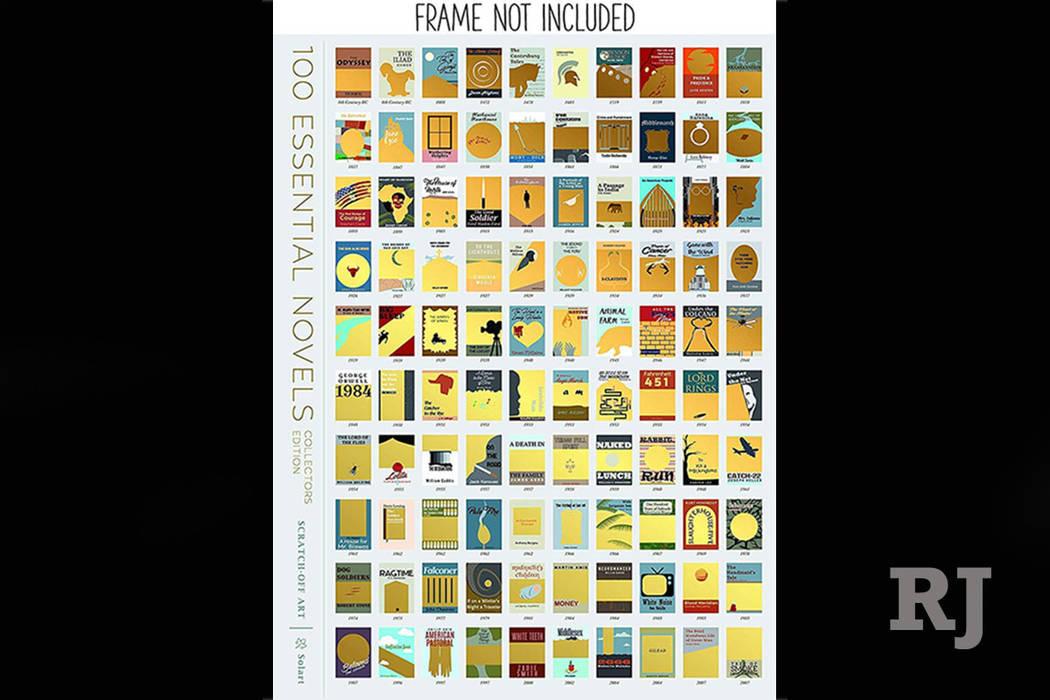 SolartUSA 100 Essential Novels Scratch-Off Poster