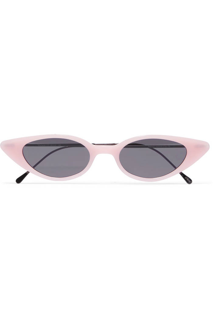 Illesteva's Marianne cat-eye acetate and gunmetal-tone sunglasses . Net-a-Porter
