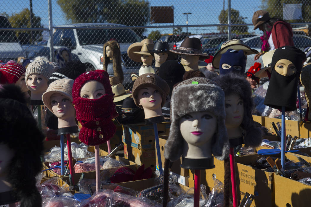 Hats for sale at Broadacres Marketplace in North Las Vegas, Sunday, Dec. 2, 2018. Rachel Aston Las Vegas Review-Journal @rookie__rae