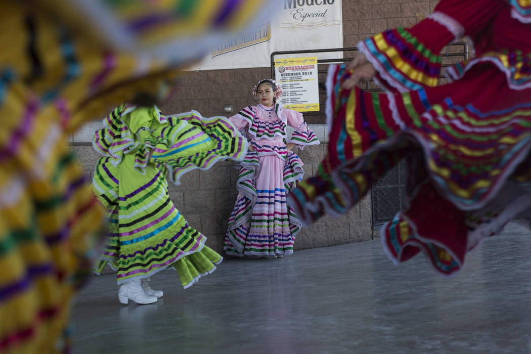 Grupo Folkorico Libertad de las Vegas performs at Broadacres Marketplace in North Las Vegas, Sunday, Dec. 2, 2018. Rachel Aston Las Vegas Review-Journal @rookie__rae