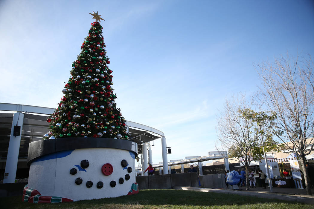 A Christmas tree during the annual WinterFest event at the Henderson Events Plaza in Henderson, Saturday, Dec. 8, 2018. Erik Verduzco Las Vegas Review-Journal @Erik_Verduzco