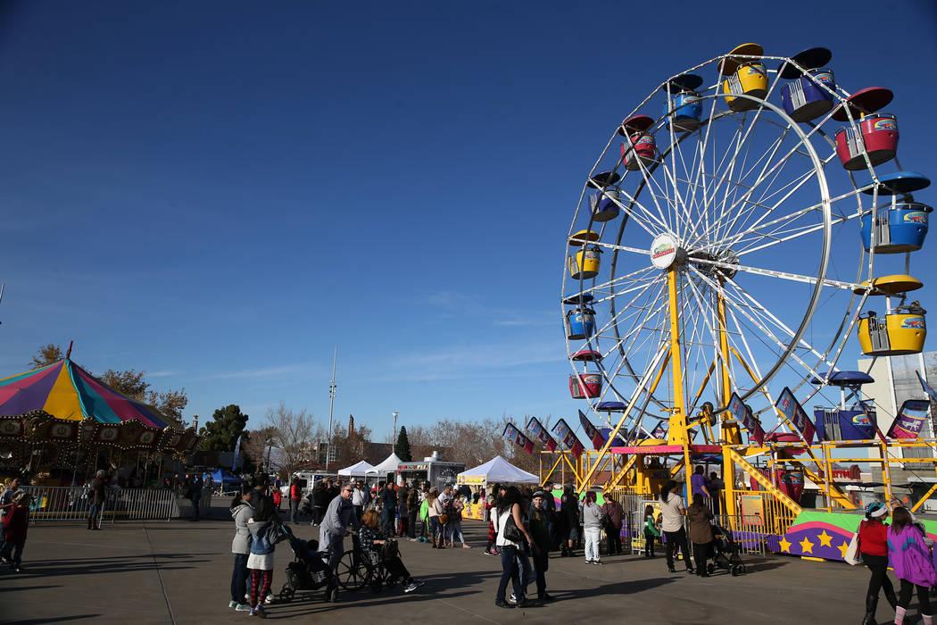 People attend the annual WinterFest event at the Henderson Events Plaza in Henderson, Saturday, Dec. 8, 2018. Erik Verduzco Las Vegas Review-Journal @Erik_Verduzco