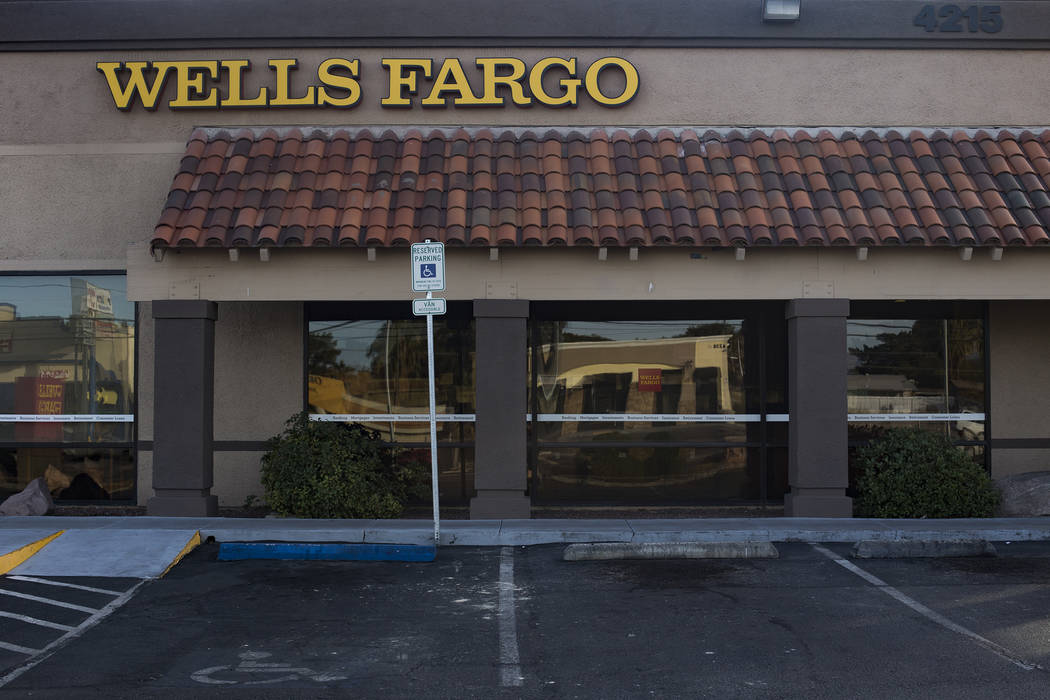 The Las Vegas bank, now a Wells Fargo, at 4215 E. Charleston Blvd. that Timothy Blackburn and Robert Bates robbed in December 1998, as seen on Sunday, Dec. 9, 2018. Rachel Aston Las Vegas Review-J ...