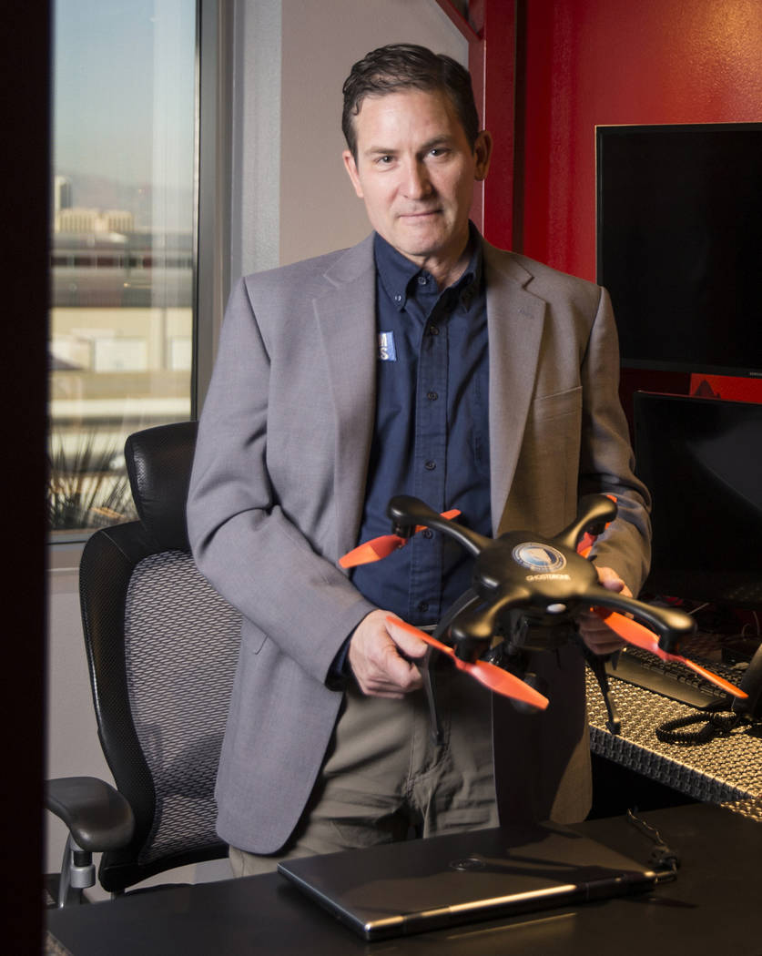 Dr. Chris Walach at the offices of the Nevada Institute for Autonomous Systems on Monday, November 5, 2018, in Las Vegas. Benjamin Hager Las Vegas Review-Journal