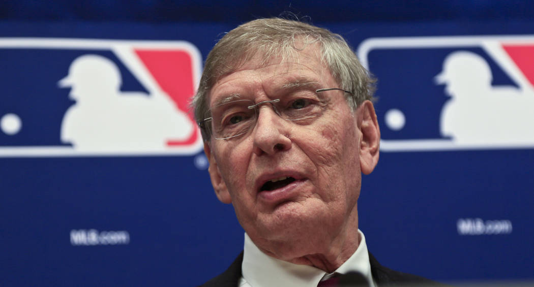 Baseball Commissioner Bud Selig speaks during a press conference, Thursday, May 15, 2014 at Major League Baseball headquarters in New York. (AP Photo/Bebeto Matthews)