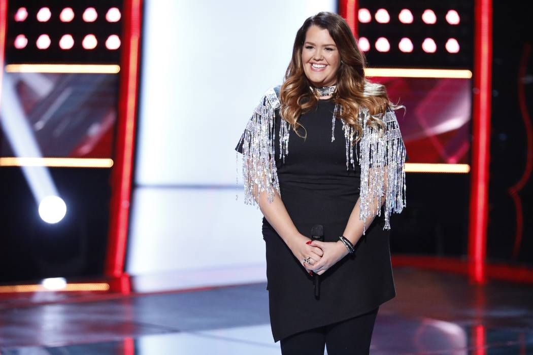 Amber Sauer from season 14 of The Voice. (Tyler Golden/NBC)