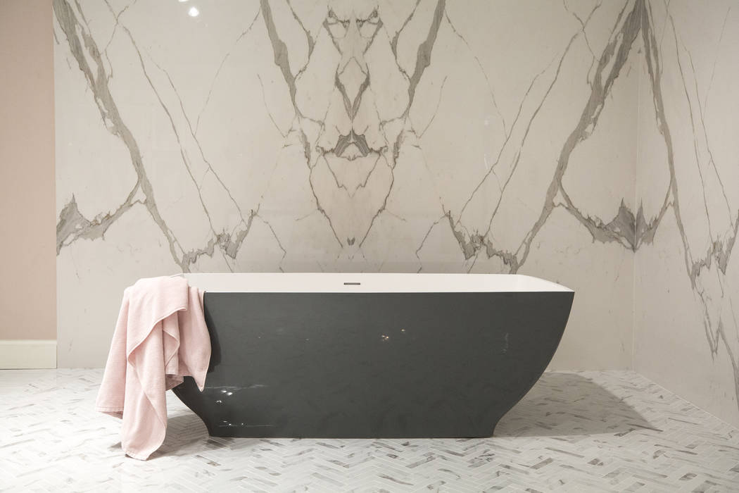 According to Peggy Scinta, owner of P. Scinta Designs, homeowners are replacing built-in tubs with free-standing tubs for nostalgia purposes. (P. Scinta Designs)