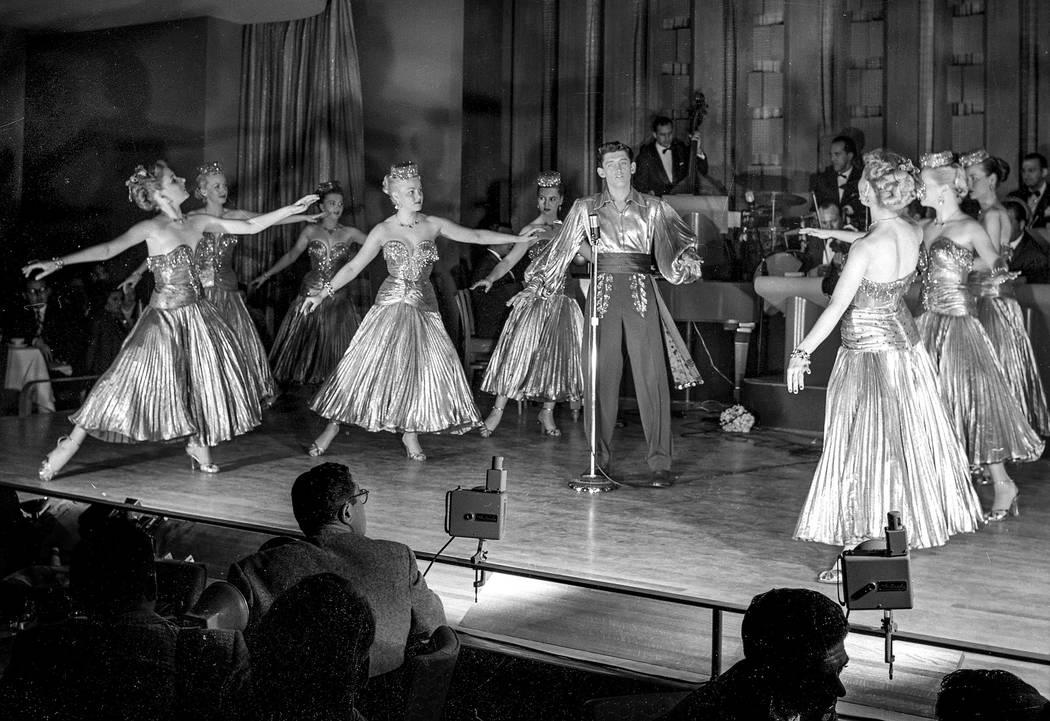 Copa Girls opening night at the Sands Hotel 12/15/52. (Las Vegas News Bureau)