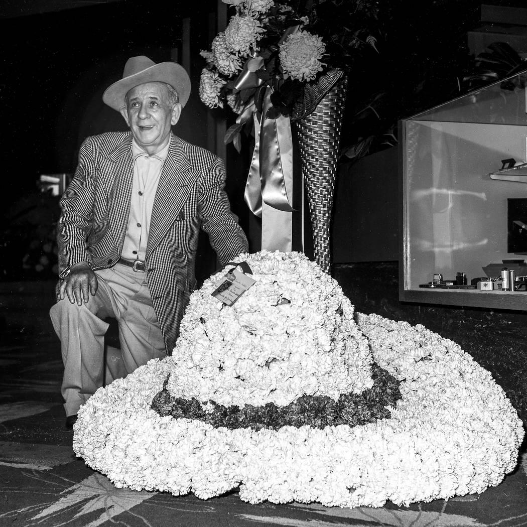 Jake Friedman at the Sands Hotel opening on the Vegas Strip in December 1952. (Las Vegas News Bureau)