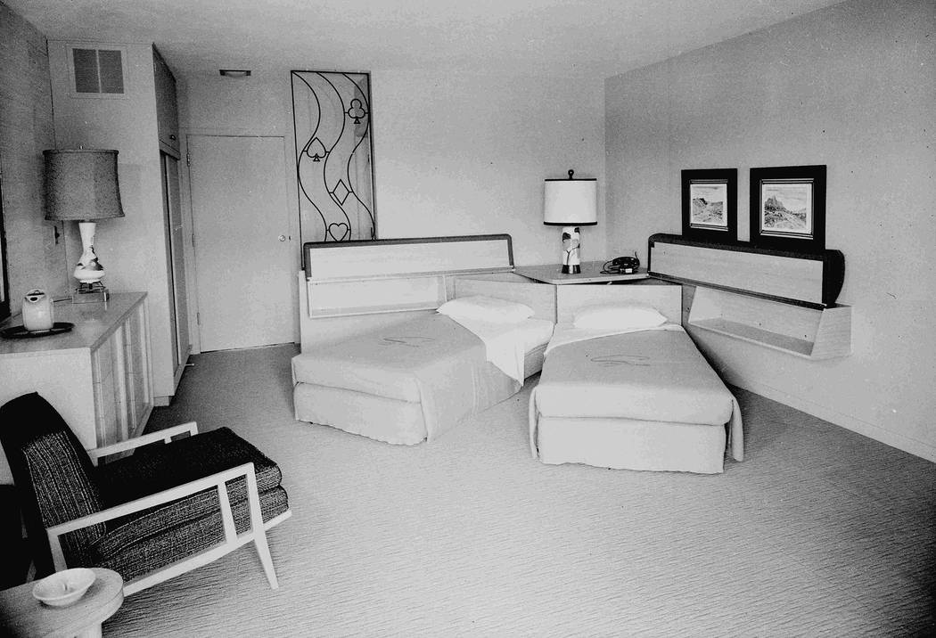 A collection of room interiors from the Sands Hotel, 12/9/1952. (Las Vegas News Bureau)