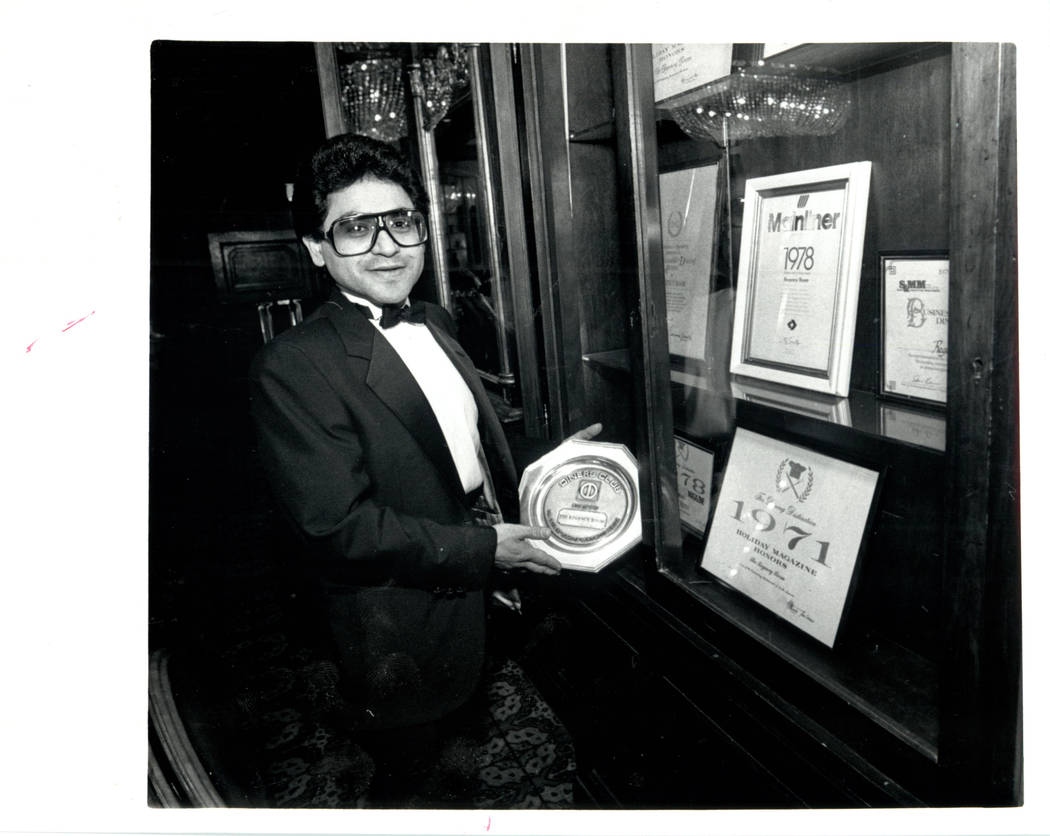 Regency room at the Sands Hotel, Gourmet Captain, Hector Moreno. (File Photo/Las Vegas Review-Journal)