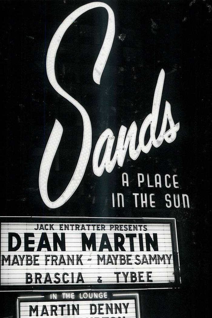 Sands Hotel Marquee, January 15, 1982. (File Photo/Las Vegas Review-Journal)