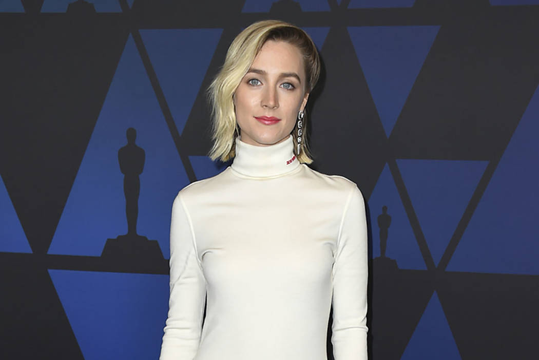 Saoirse Ronan arrives at the Governors Awards on Sunday, Nov. 18, 2018, at the Dolby Theatre in Los Angeles. (Photo by Jordan Strauss/Invision/AP)