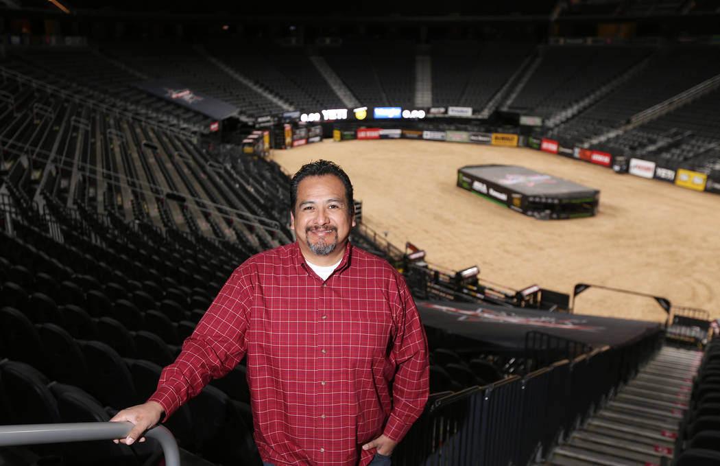 Raul Gutierrez, executive director of arena operations, inside the T-Mobile Arena in Las Vegas, Thursday, Nov. 8, 2018. Gutierrez is responsible for front of the house operations and everything th ...