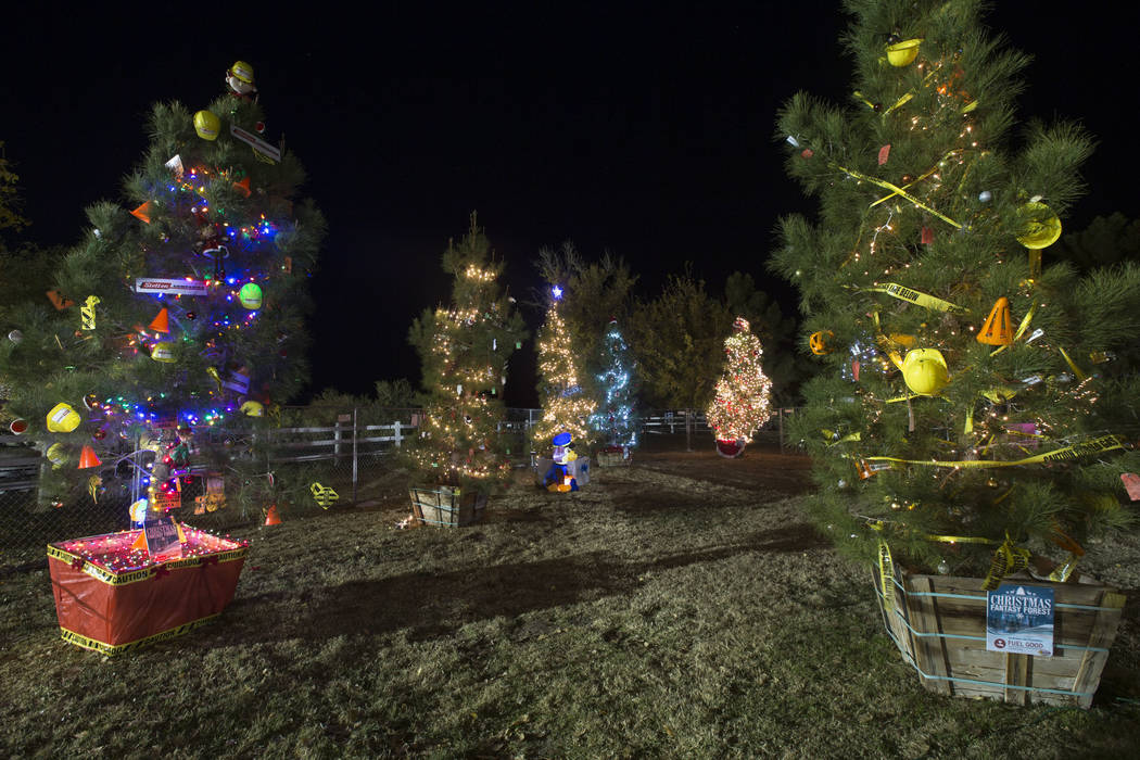 Decorated trees on display during Cowboy Christmas at Floyd Lamb Park at Tule Springs in Las Vegas on Saturday, Dec. 1, 2018. Richard Brian Las Vegas Review-Journal @vegasphotograph