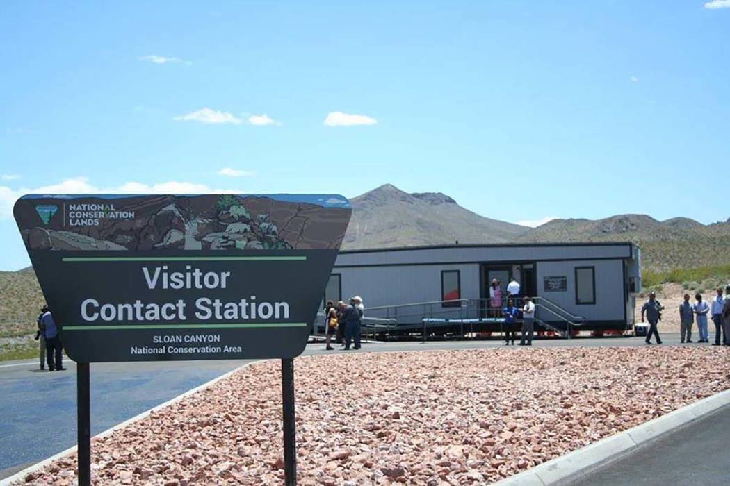 Sloan Canyon Visitor Contact Station south of Henderson. Bureau of Land Management