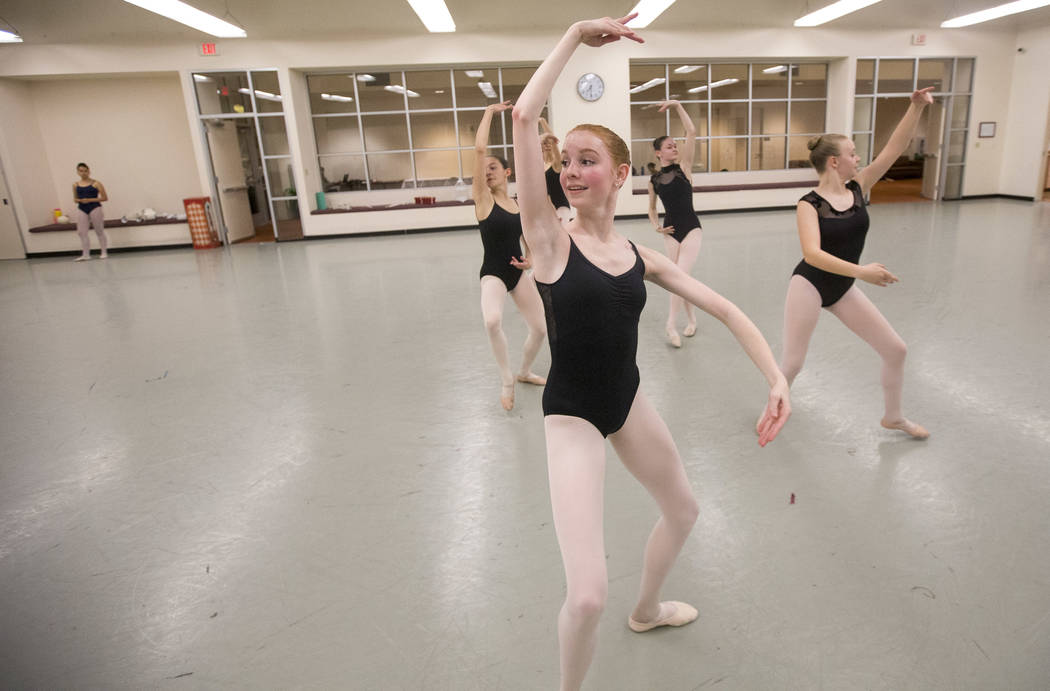 "Dancer Lina Siddoway, 14, during a rehearsal for the ""Nutcracker"" at the Nevada Ballet Theatre on Friday. Richard Brian Las Vegas Review-Journal @vegasphotograph"