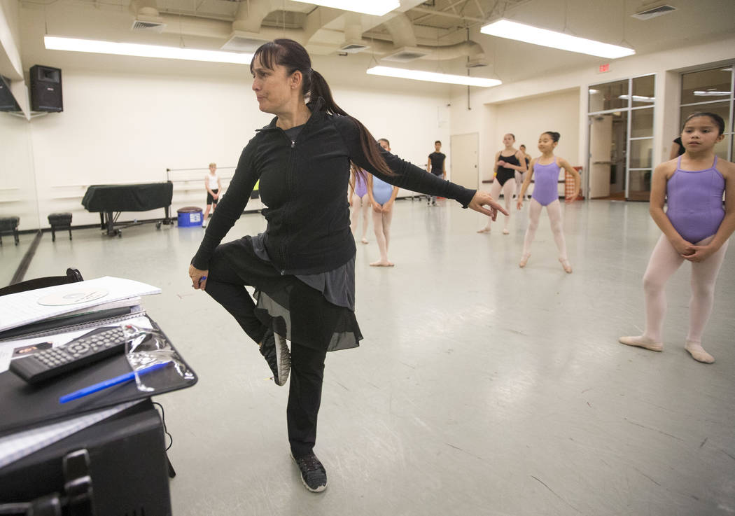 "A rehearsal for the ""Nutcracker"" at the Nevada Ballet Theatre in Las Vegas on Friday, Nov. 30, 2018. Richard Brian Las Vegas Review-Journal @vegasphotograph"