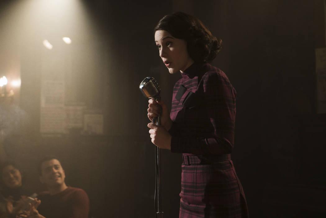 Rachel Brosnahan in Season 1 of The Marvelous Mrs Maisel. (Amazon Studios)