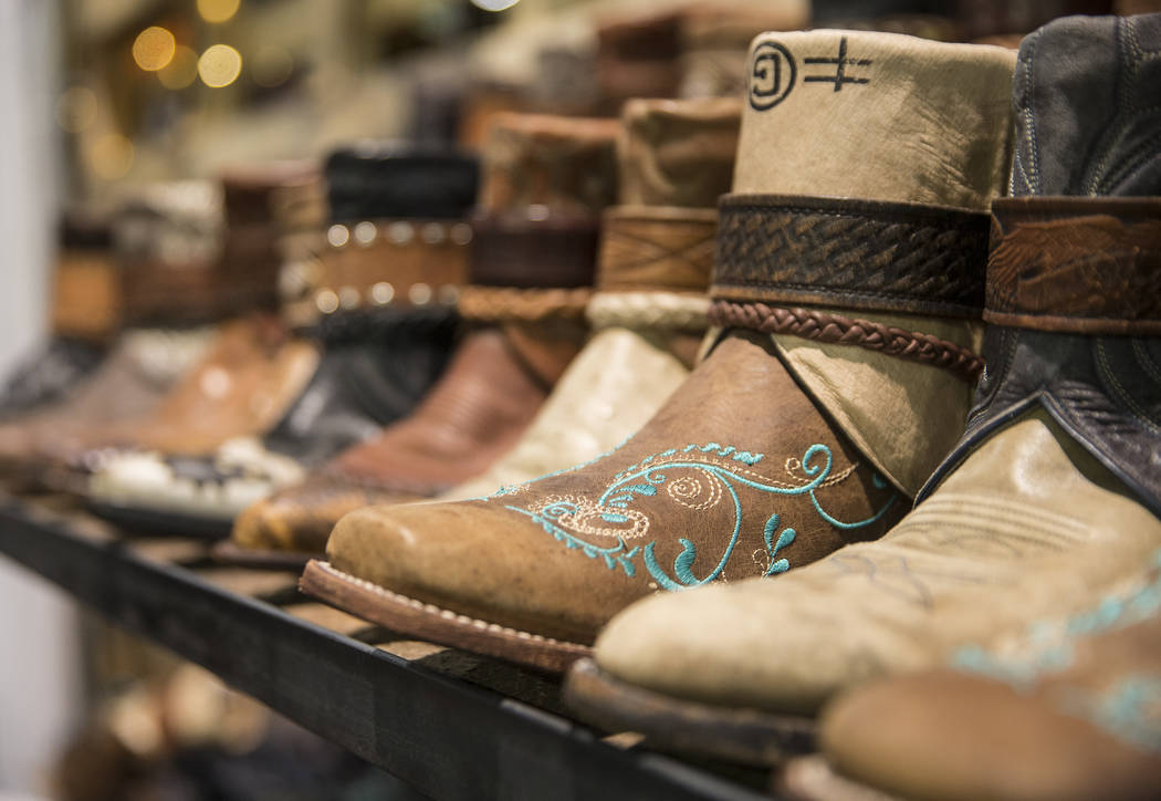 Montana-based Canty Boots at Cowboy Christmas at the Las Vegas Convention Center on Thursday, Dec. 6, 2018, in Las Vegas. Benjamin Hager Las Vegas Review-Journal